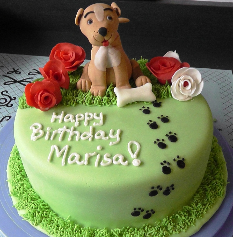 Fondant Gumpaste Dog Birthday Cake On Central