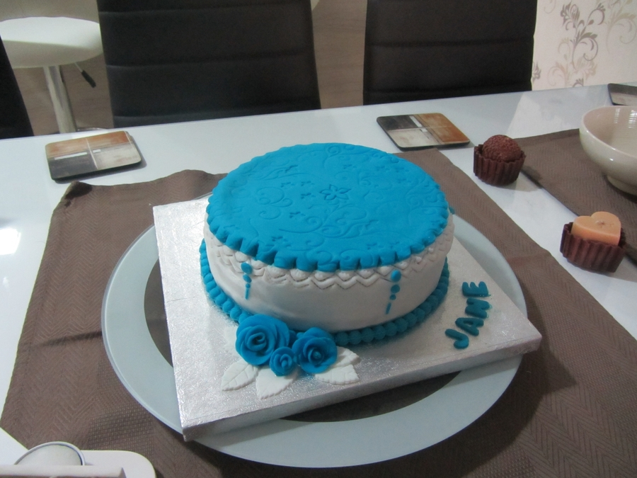 Blue And White on Cake Central