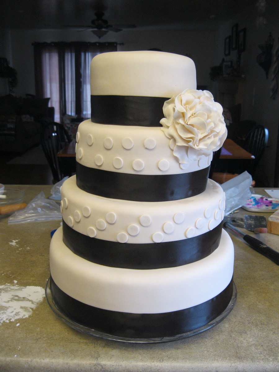 My First Ever Wedding Cake! on Cake Central