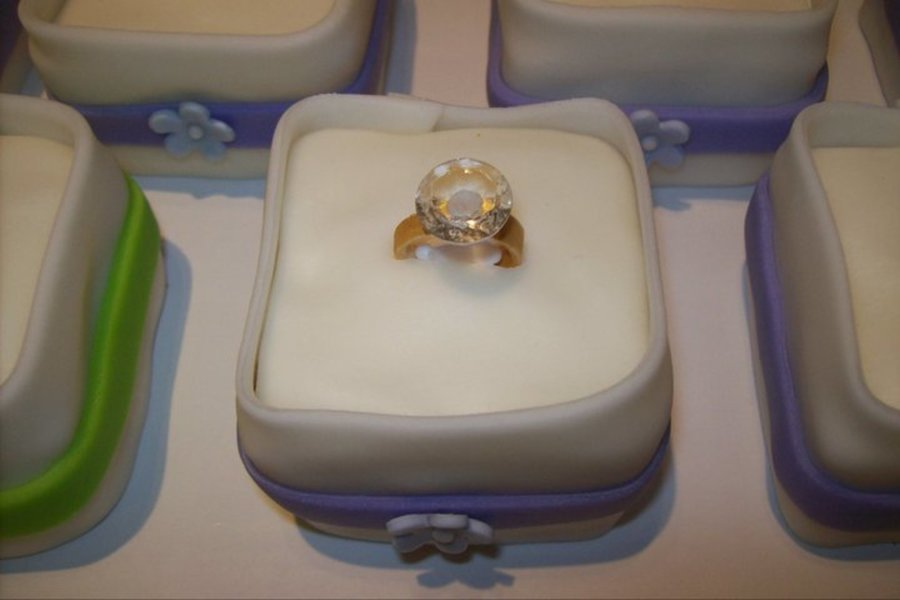 Mini Ring Box Cakes  on Cake Central