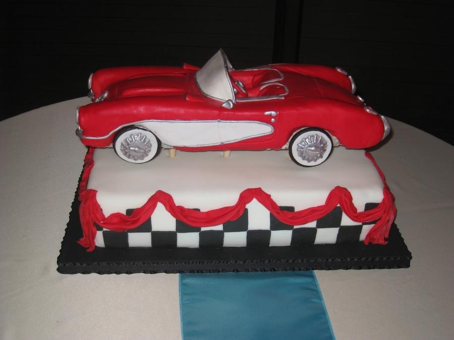 Classic Corvette Cake CakeCentralcom
