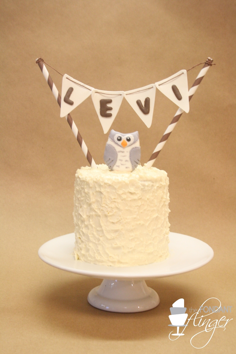 Snowy Owl Smash Cake on Cake Central