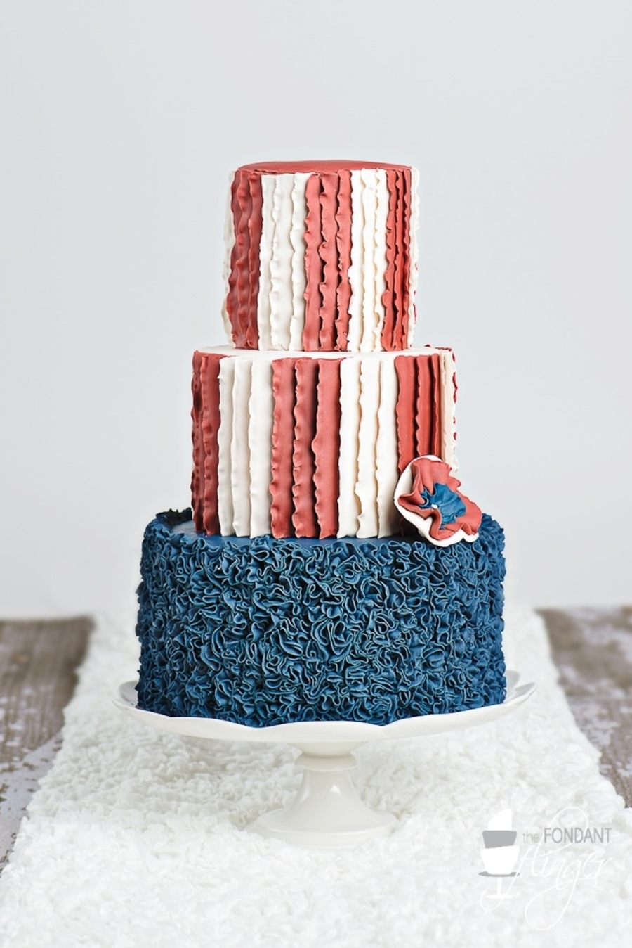 Americana Ruffle Cake on Cake Central