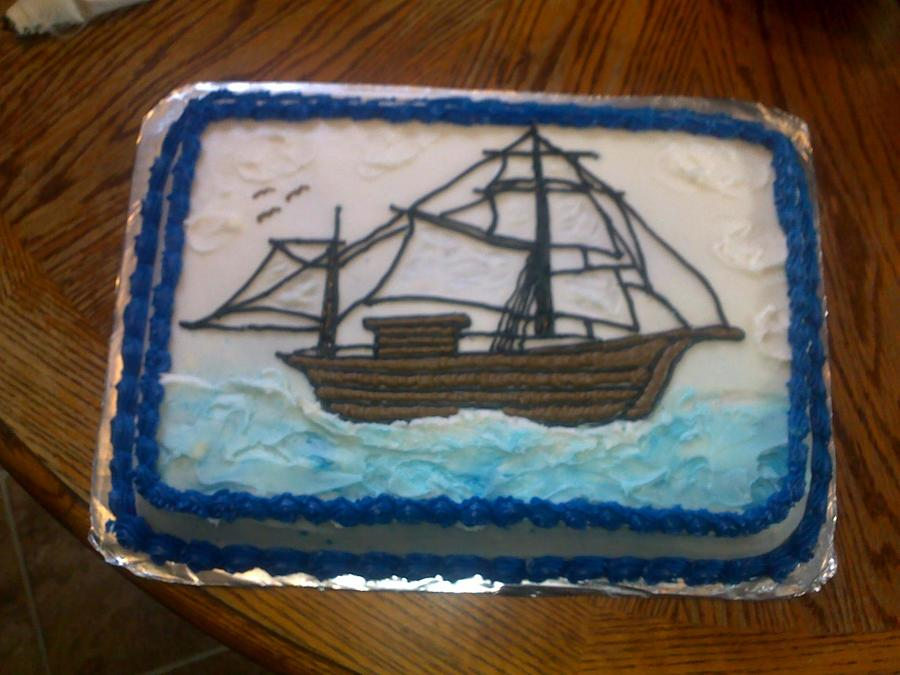 Sailboat Theme Cake on Cake Central