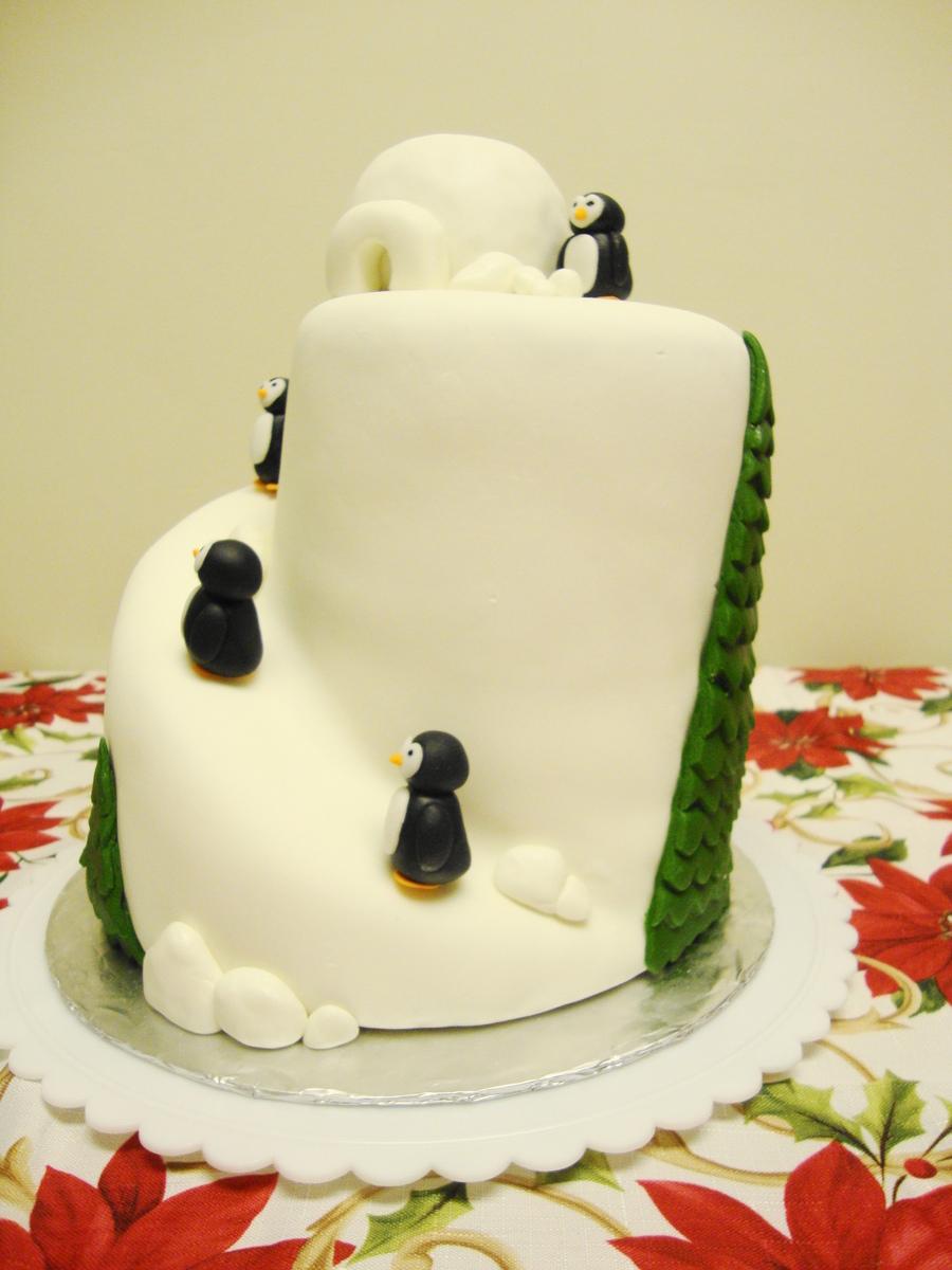 Penguins & Igloo Cake - CakeCentral.com