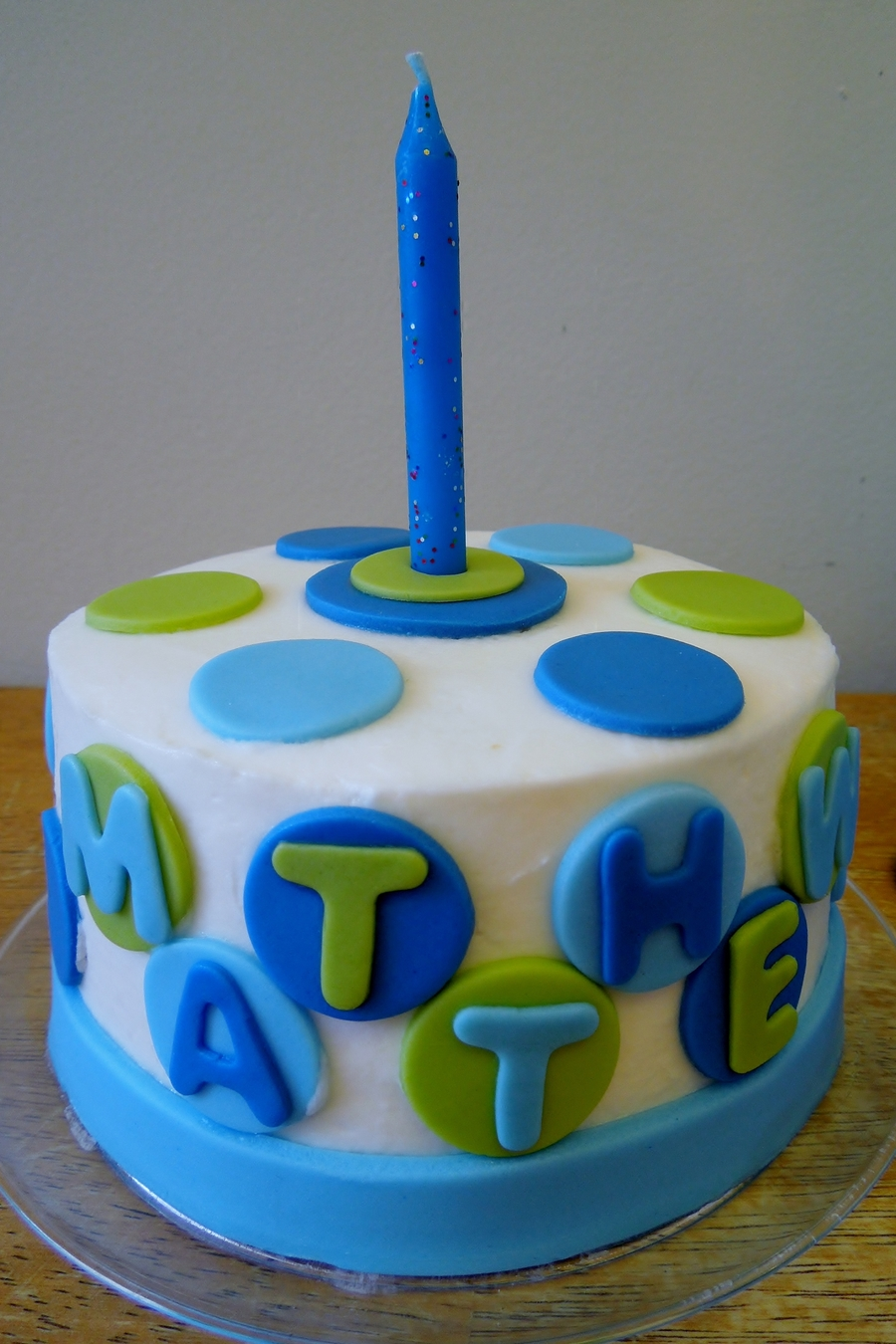 Polka Dot Boys 1St Birthday Smash Cake on Cake Central