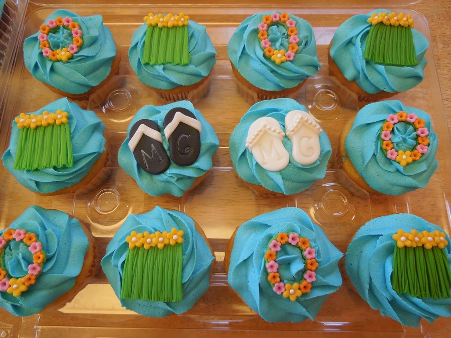 Tropical Bridal Shower Cupcakes on Cake Central