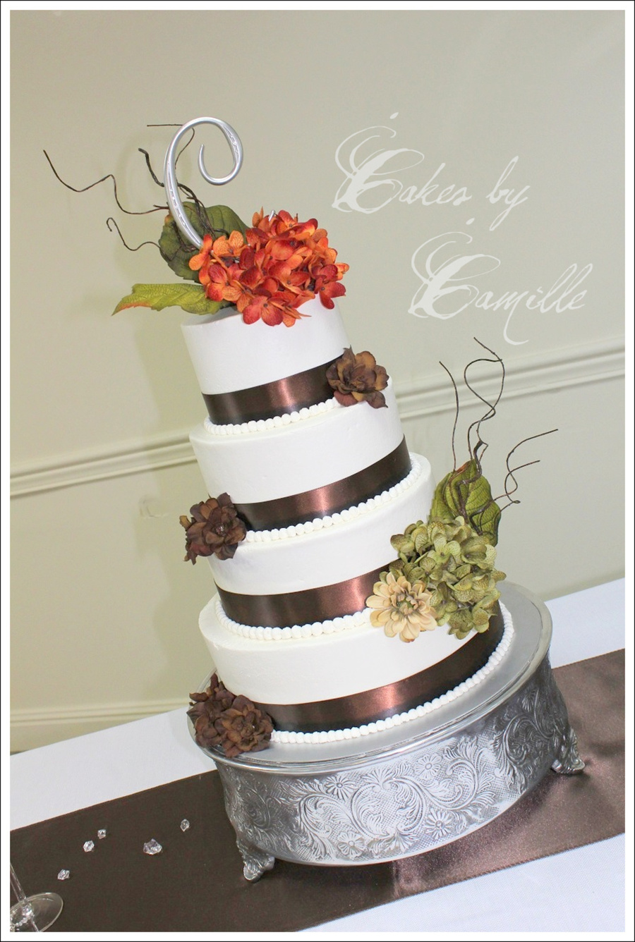 Fall Wedding With Hydrangeas on Cake Central