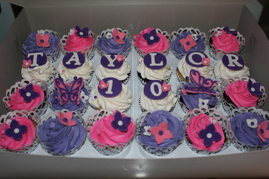 Girlie Cupcakes For A Special 10 Year Old Cakecentral Com