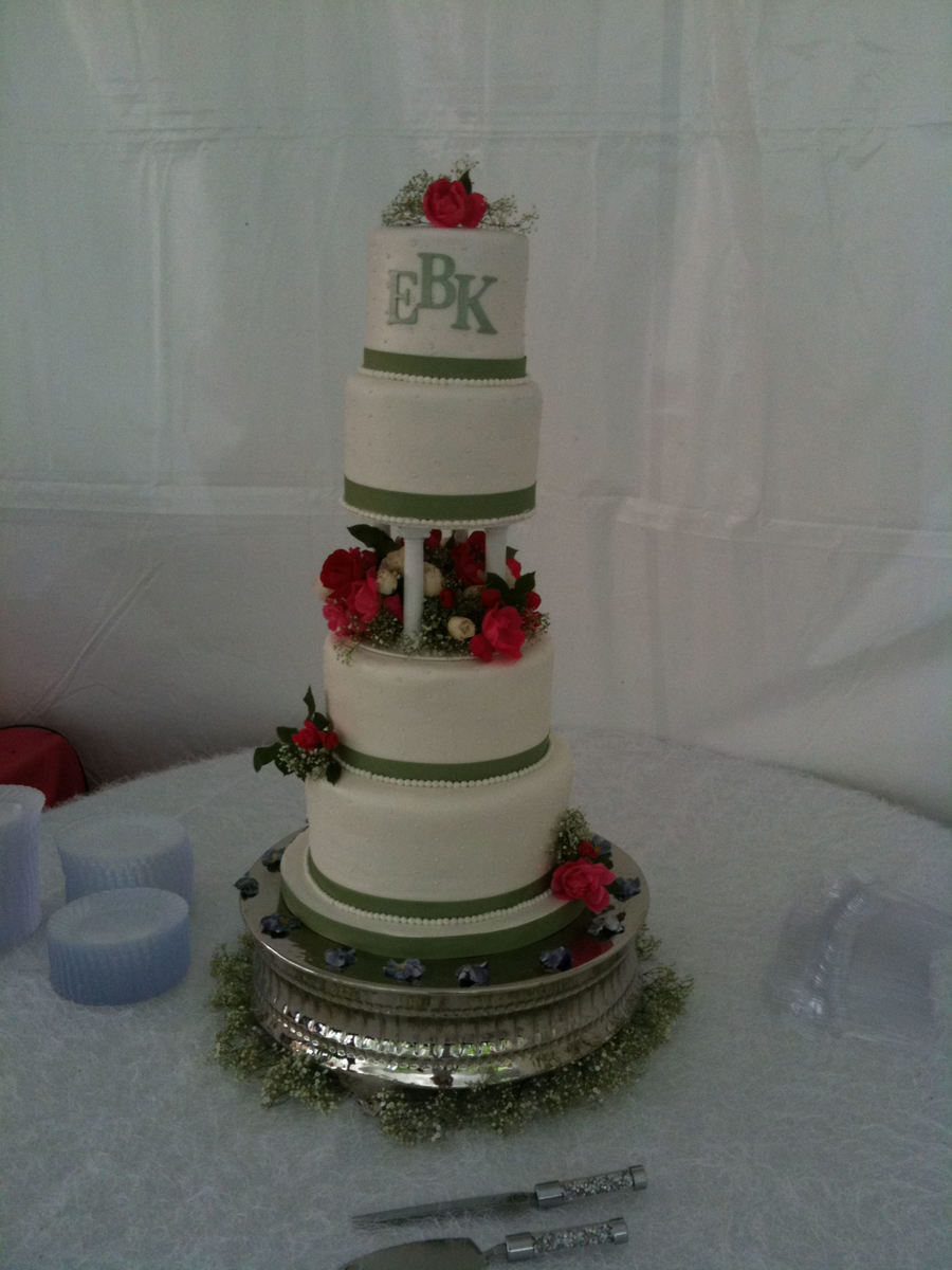 Monogram Wedding Cake  on Cake Central