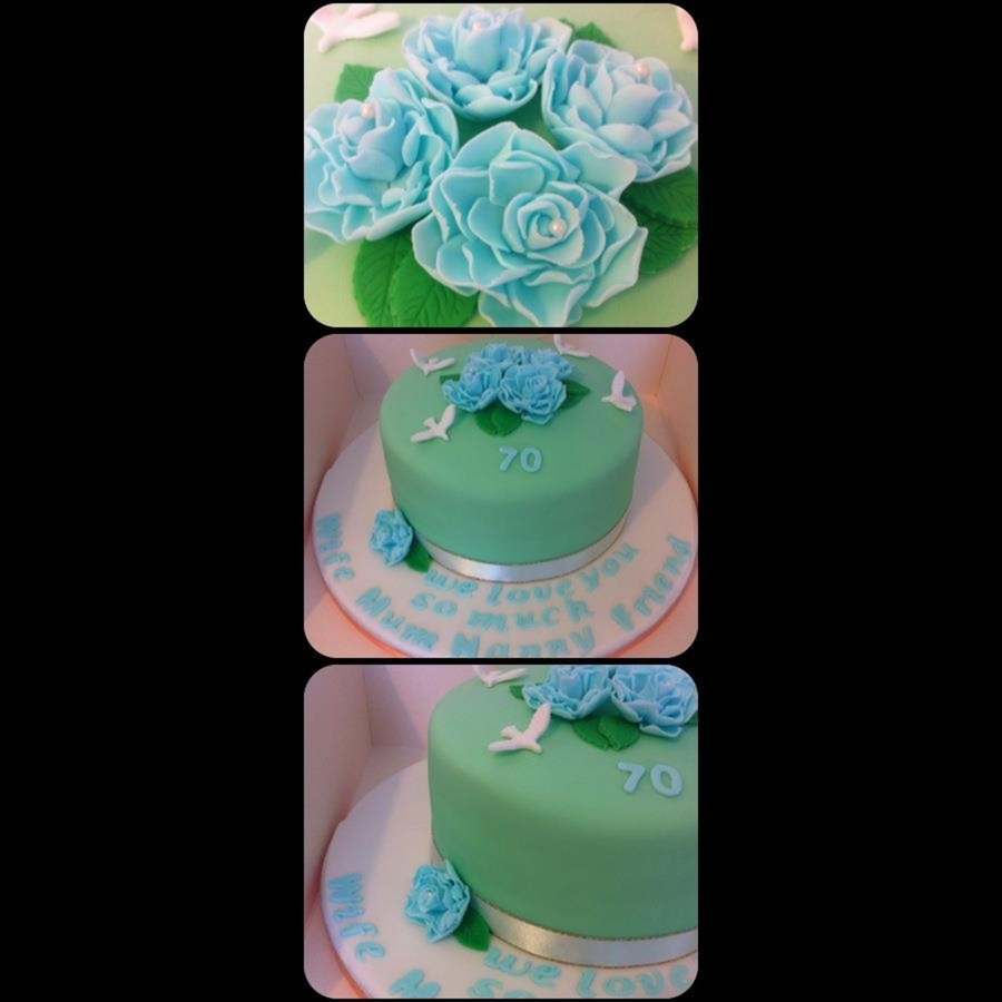 My 1St Flower Cake on Cake Central