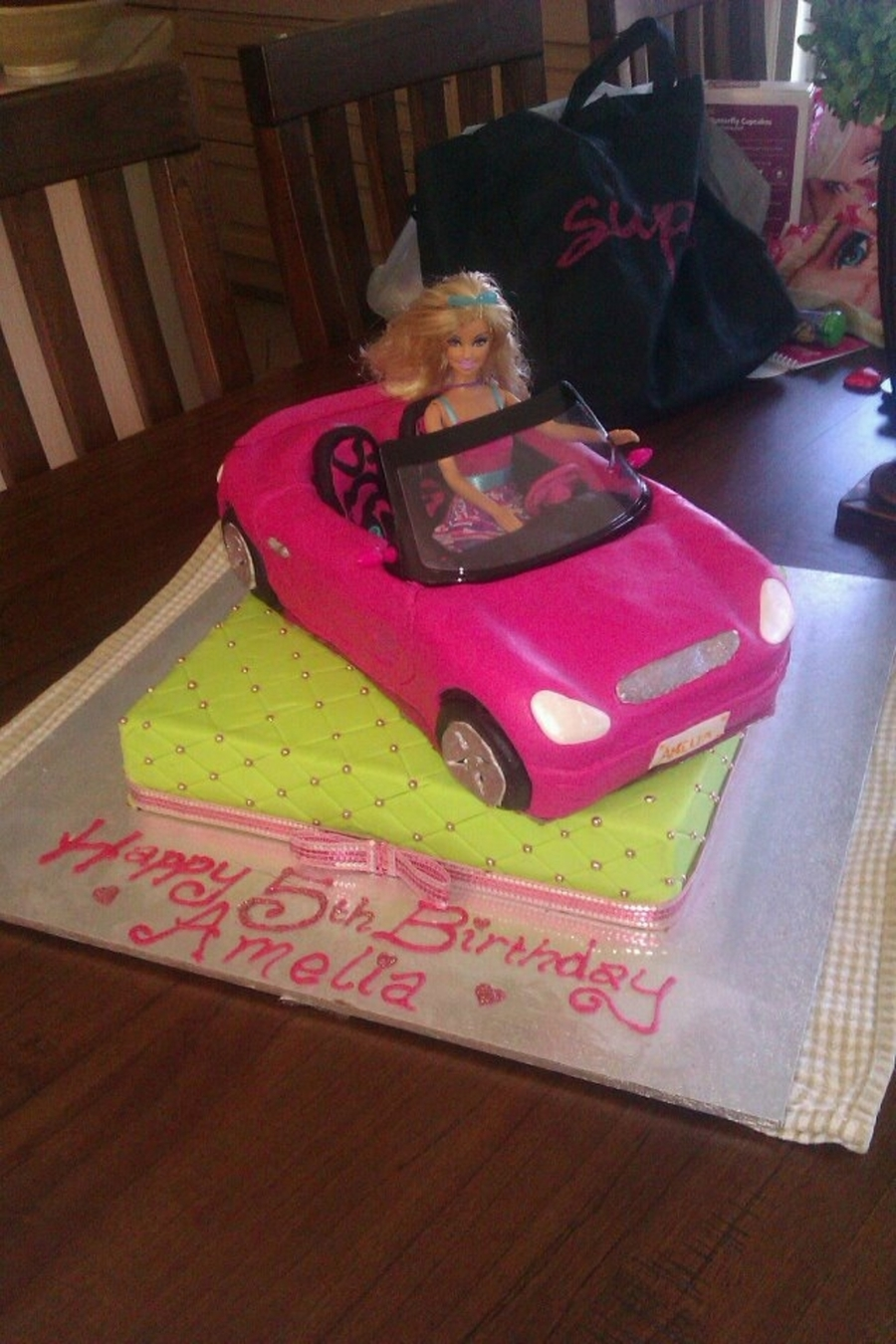 Barbie Car Cake Cakecentral