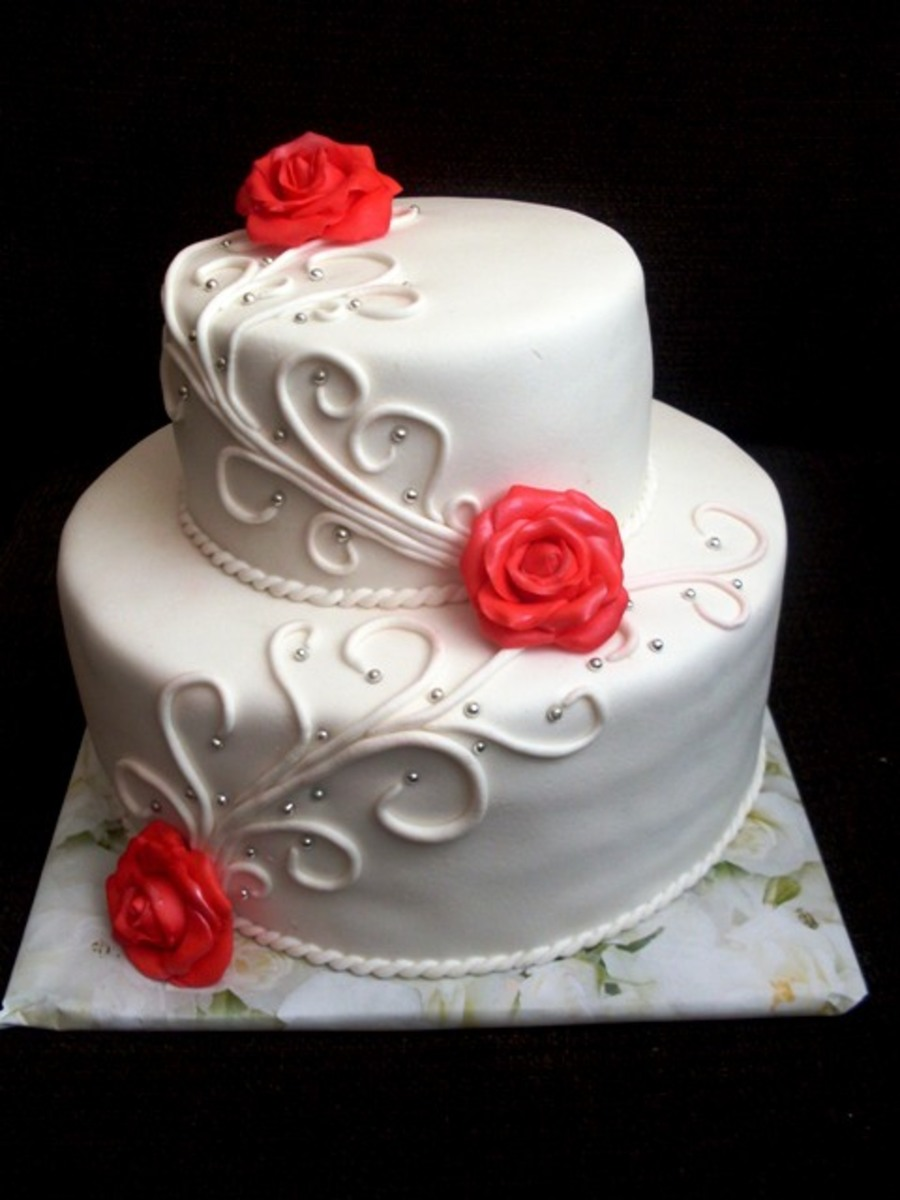 Wedding Cake Red White Cakecentral