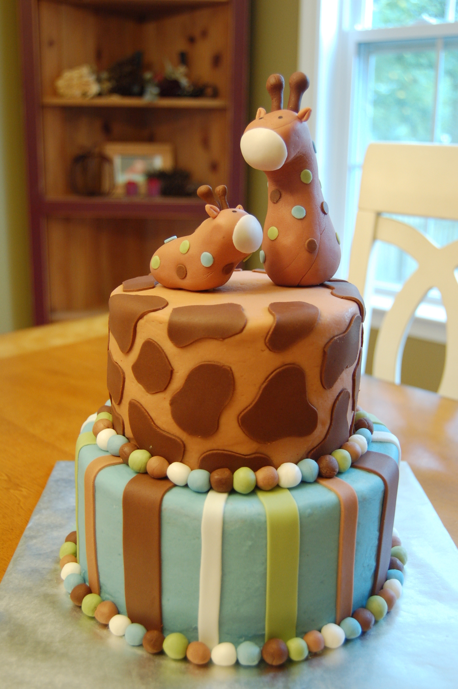 giraffe baby shower cake  cakecentral, Baby shower