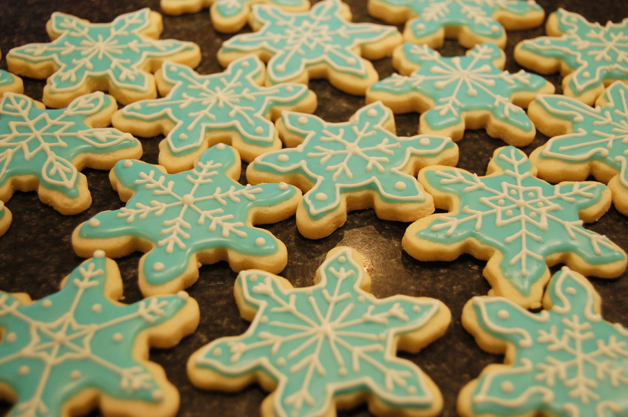 Snowflake Cookies on Cake Central