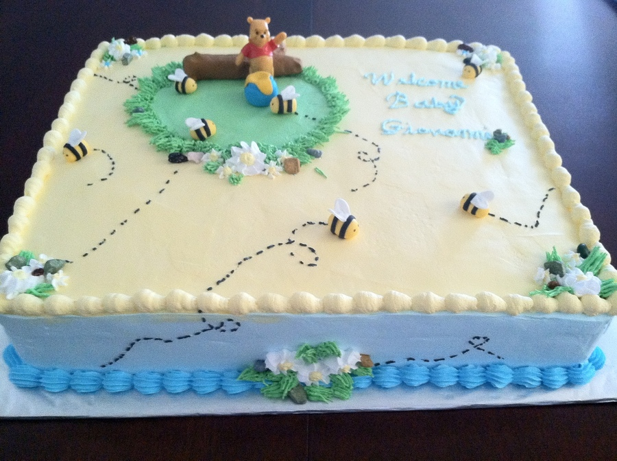 Winnie The Pooh Baby Shower Cake - CakeCentral.com