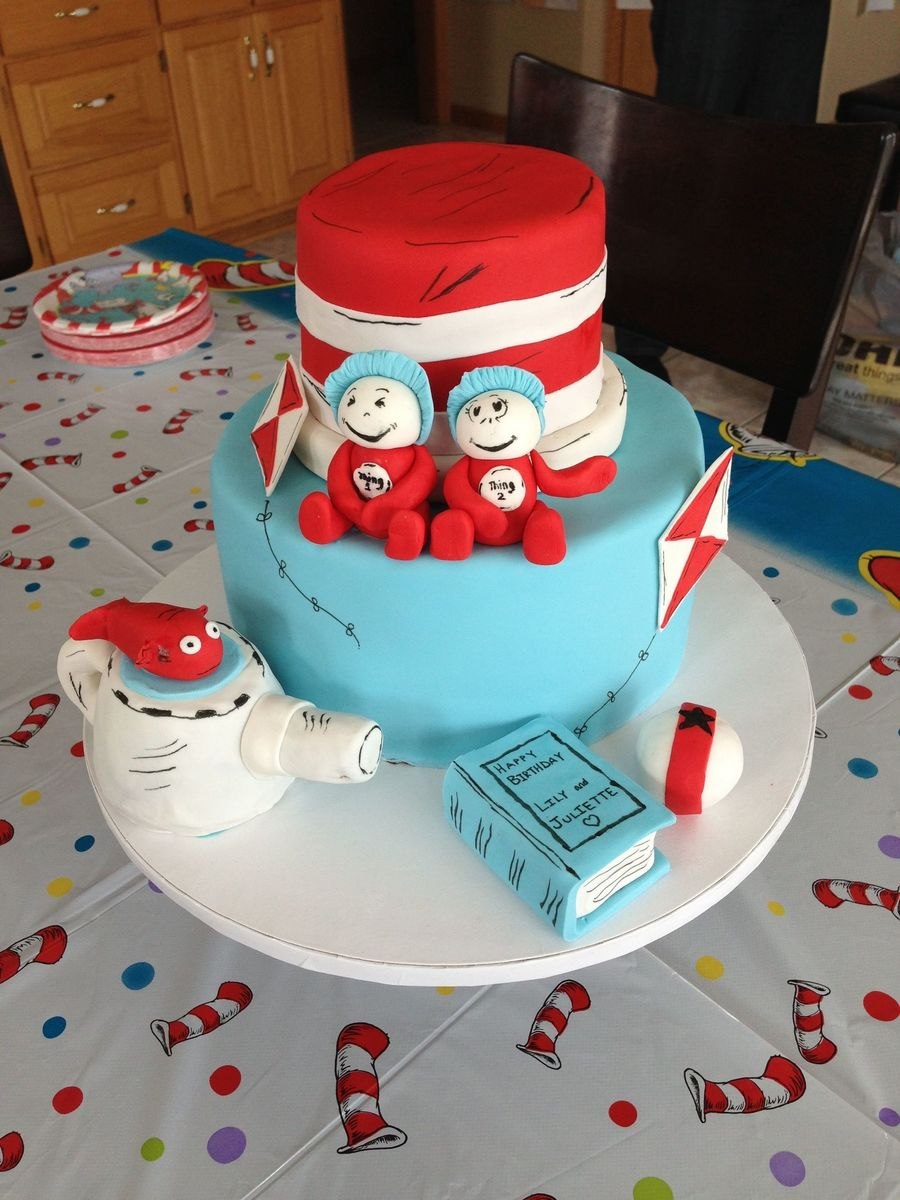 Cat In The Hat Birthday For Twins! on Cake Central