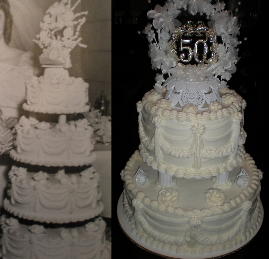 50Th Wedding Anniversary Recreation on Cake Central
