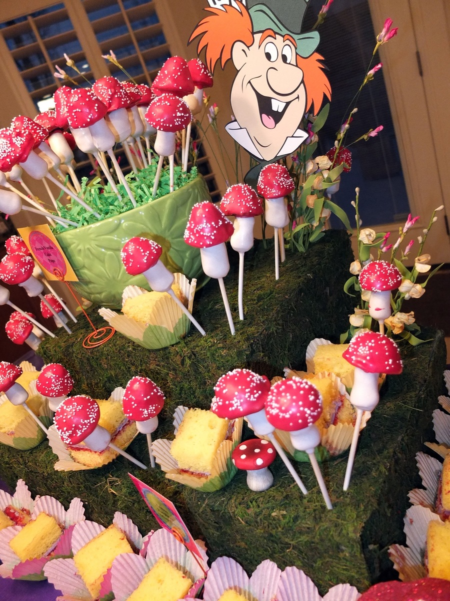 Mad hatter tea party cake pops - Mad hatter tea party decoration ideas ...