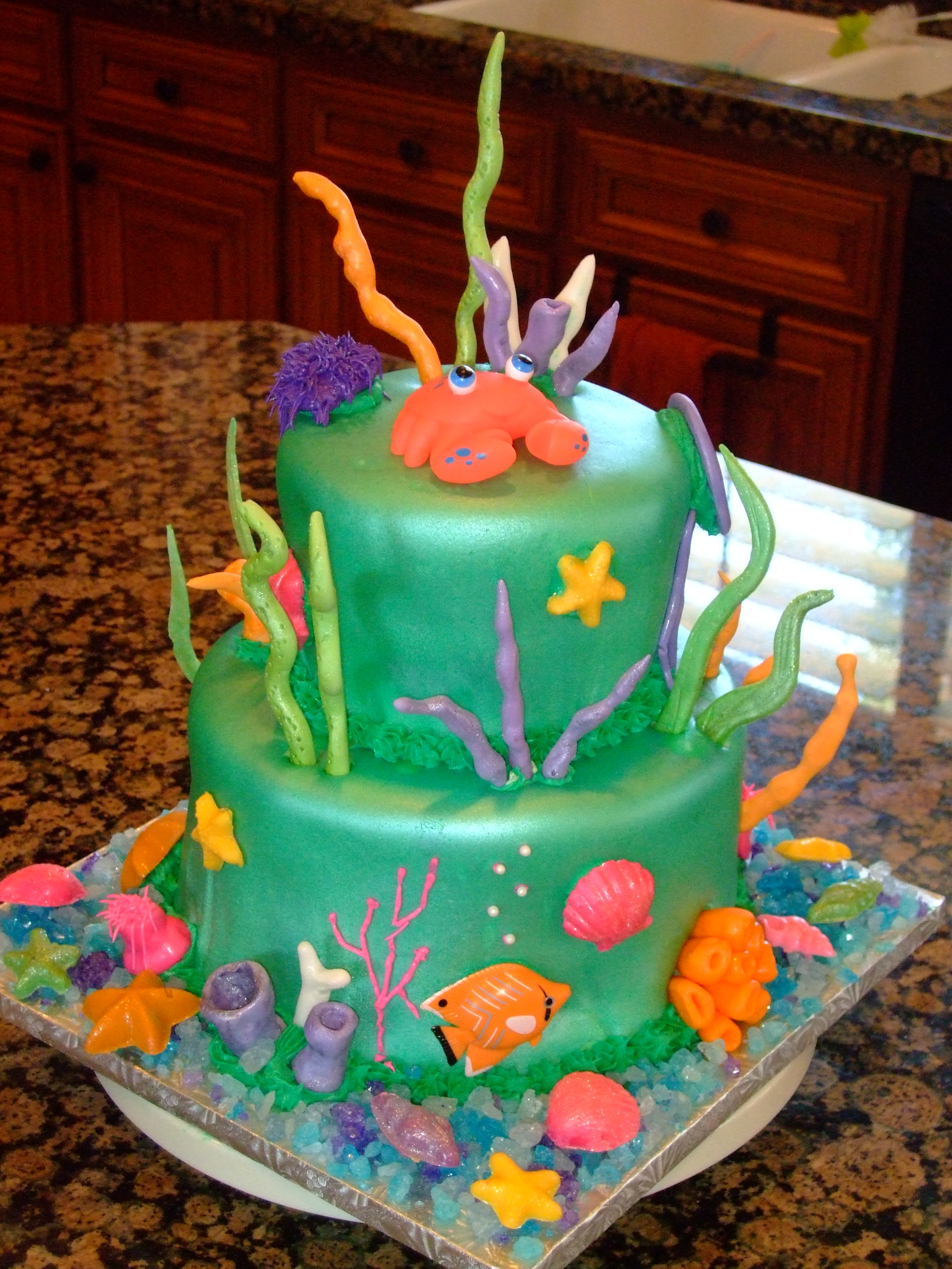 how to make an underwater cake