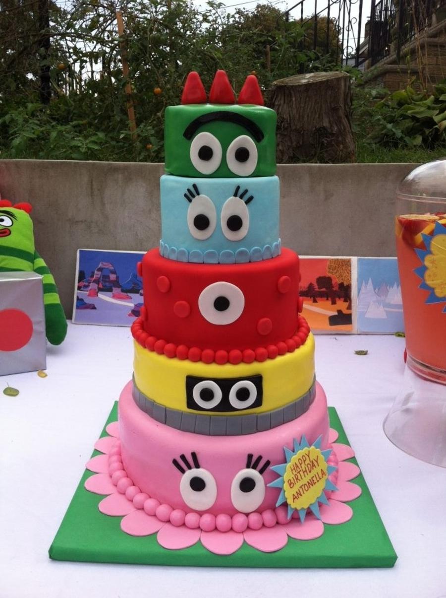 Yo Gabba Gabba Cake Cakecentral Com