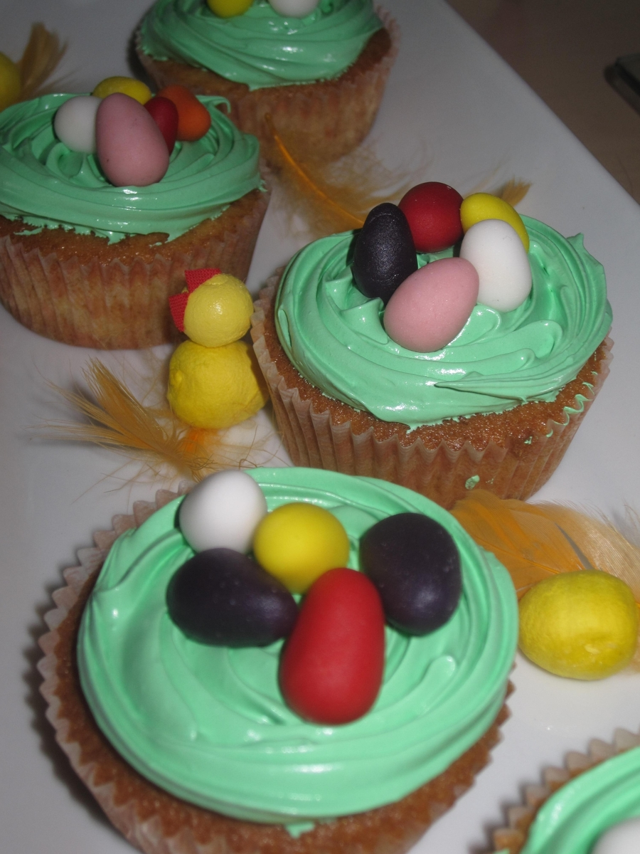 Easter Egg Cup Cakes on Cake Central