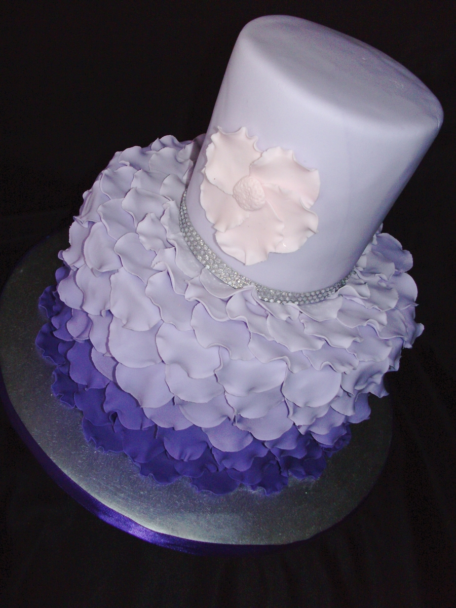 Purple Petals on Cake Central