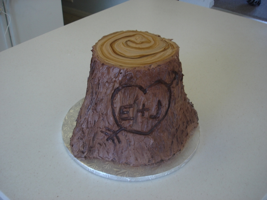 Tree Stump Grooms Cake on Cake Central