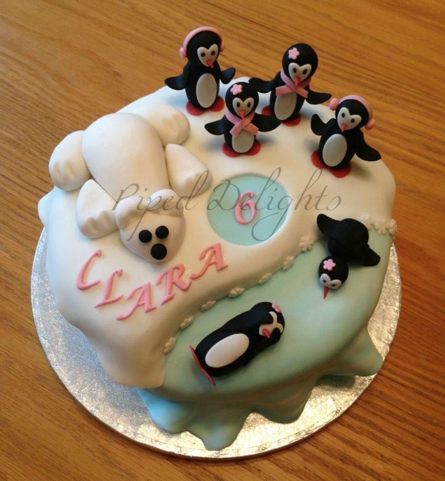 Terrific Penguin Polar Bear Birthday Cake Cakecentral Com Funny Birthday Cards Online Aeocydamsfinfo