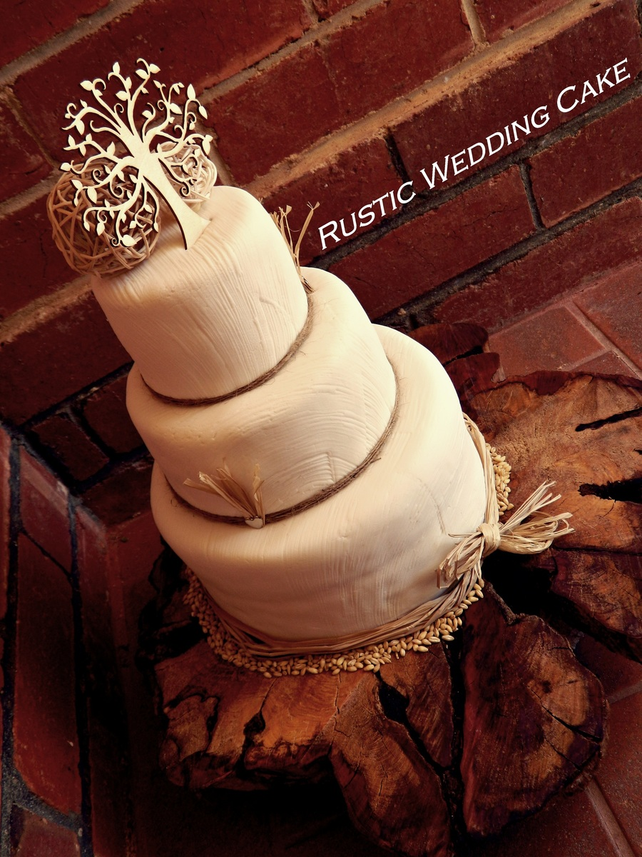 Rustic Country Wedding Cake on Cake Central