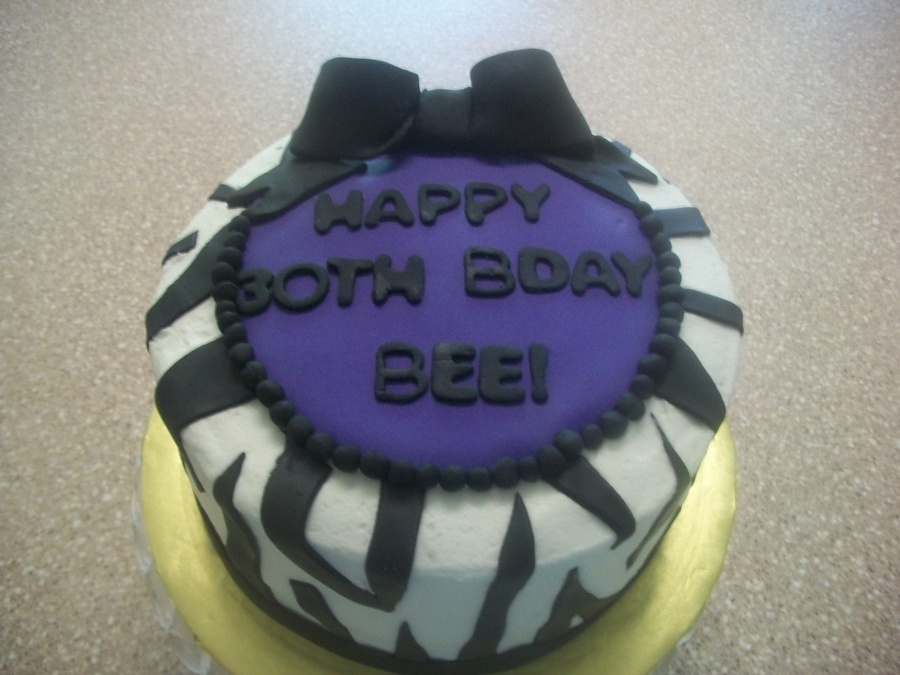 Purple Zebra on Cake Central