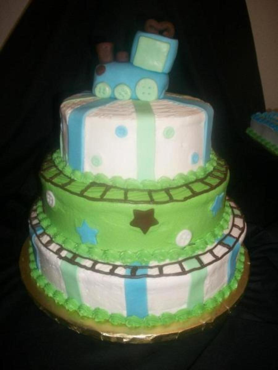 Good Train Baby Shower Cake Part - 10: Train Baby Shower Cake On Cake Central