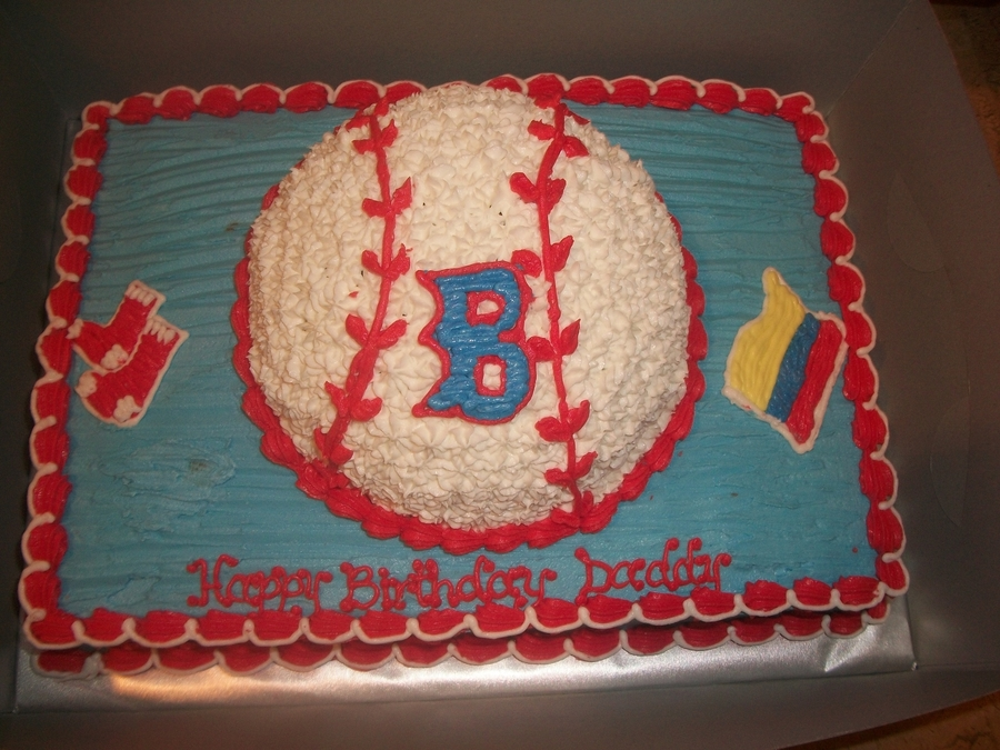Red Sox Birthday Cake on Cake Central