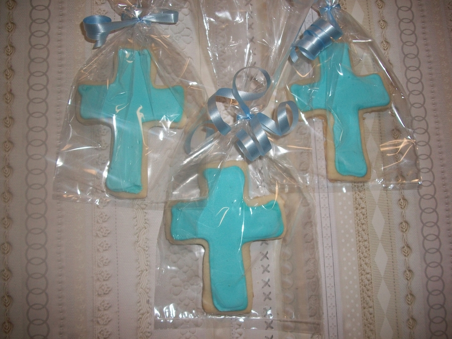 Christening Cross Cookies  on Cake Central