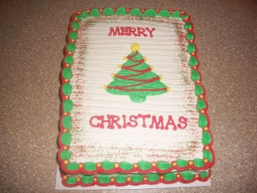 Christmas Tree Sheet Cake - CakeCentral.com