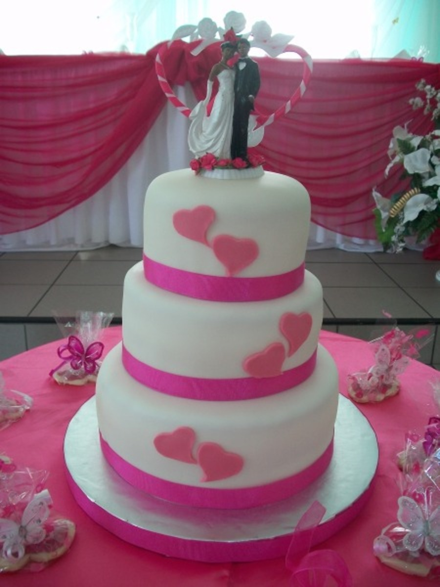 Two Hearts Wedding Cake Cakecentral Com