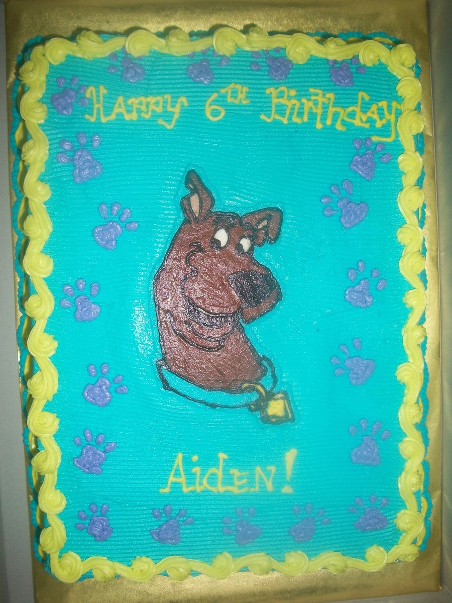 Scooby Doo Sheet Cake on Cake Central