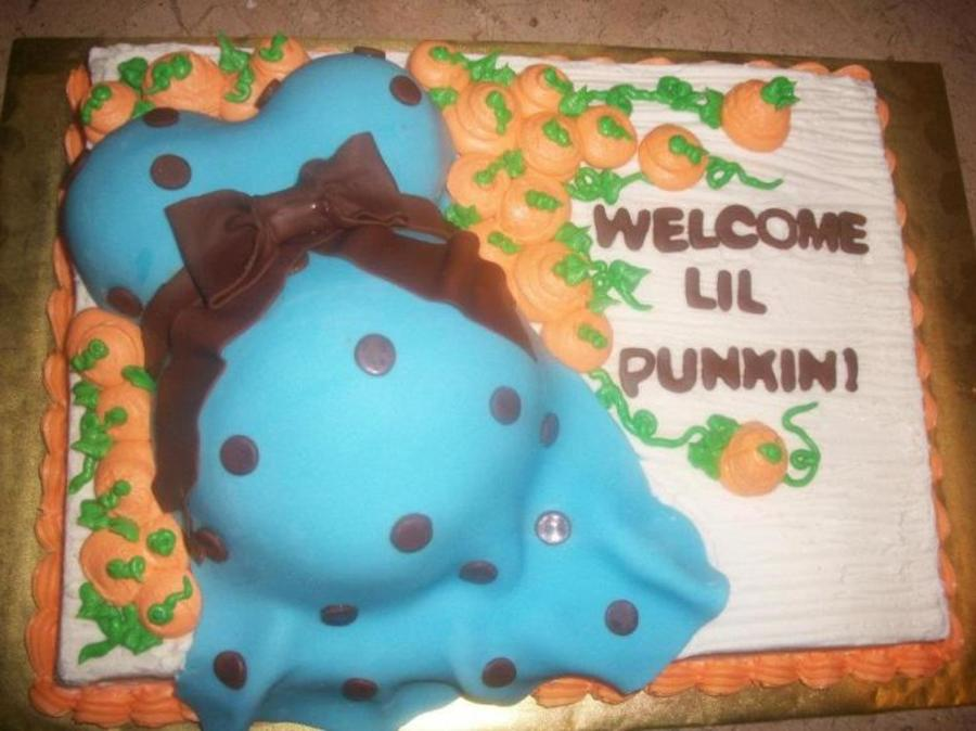 Welcome Little Pumpkin! on Cake Central