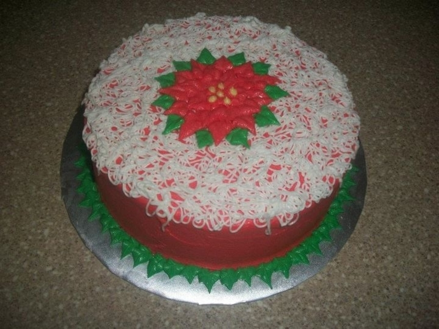 Buttercream Poinsettia on Cake Central