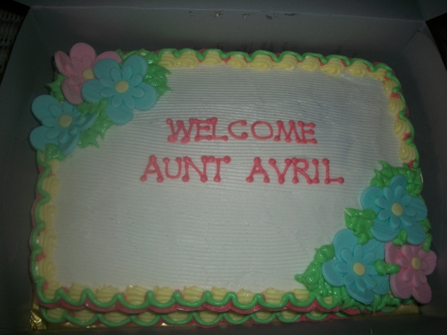 Welcome Cake on Cake Central