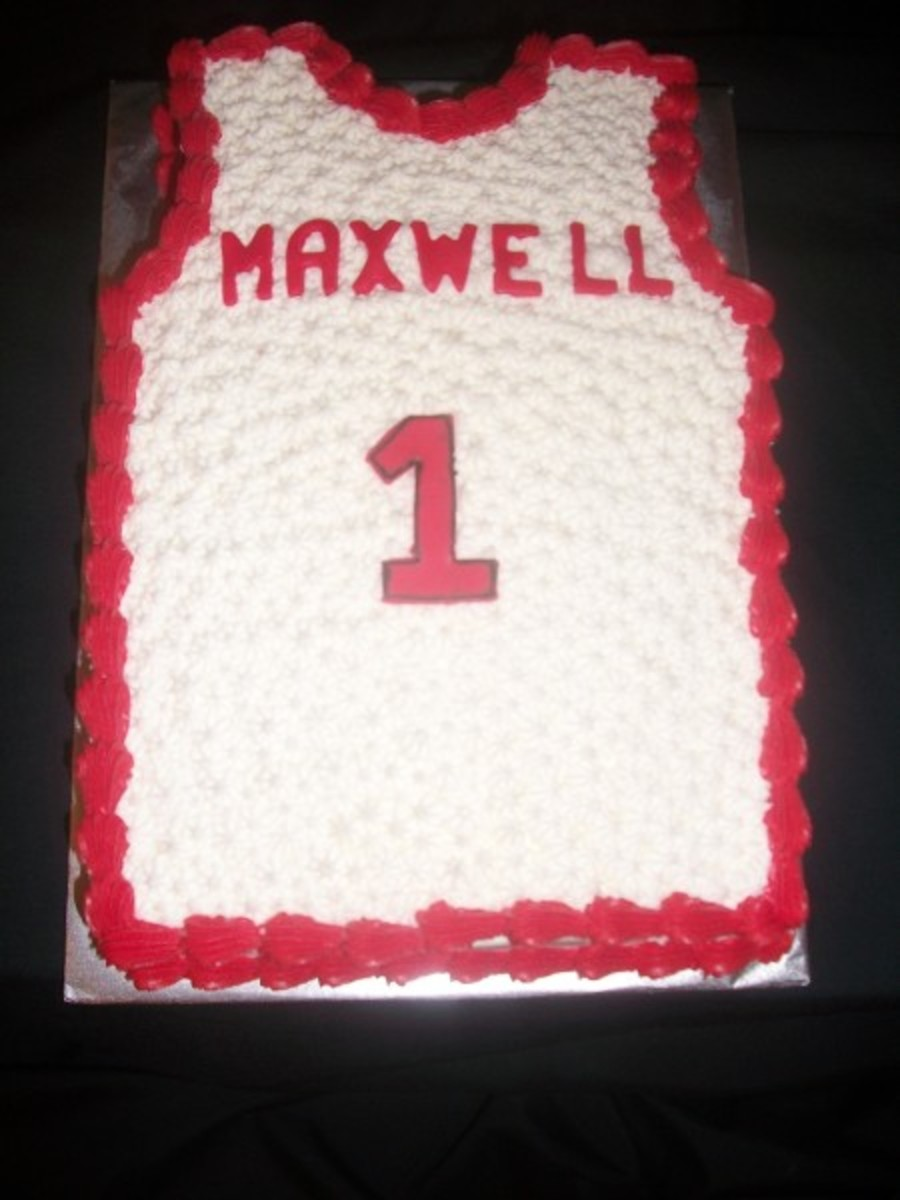 Basketball Jersey Cake on Cake Central