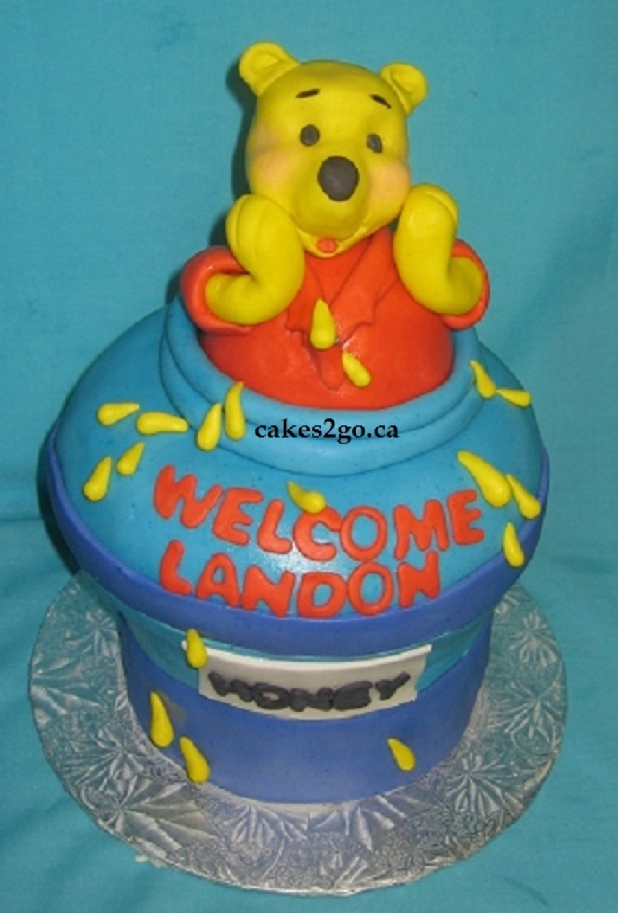 Pooh In Jar Baby Sower Cake Oakville Ontario on Cake Central