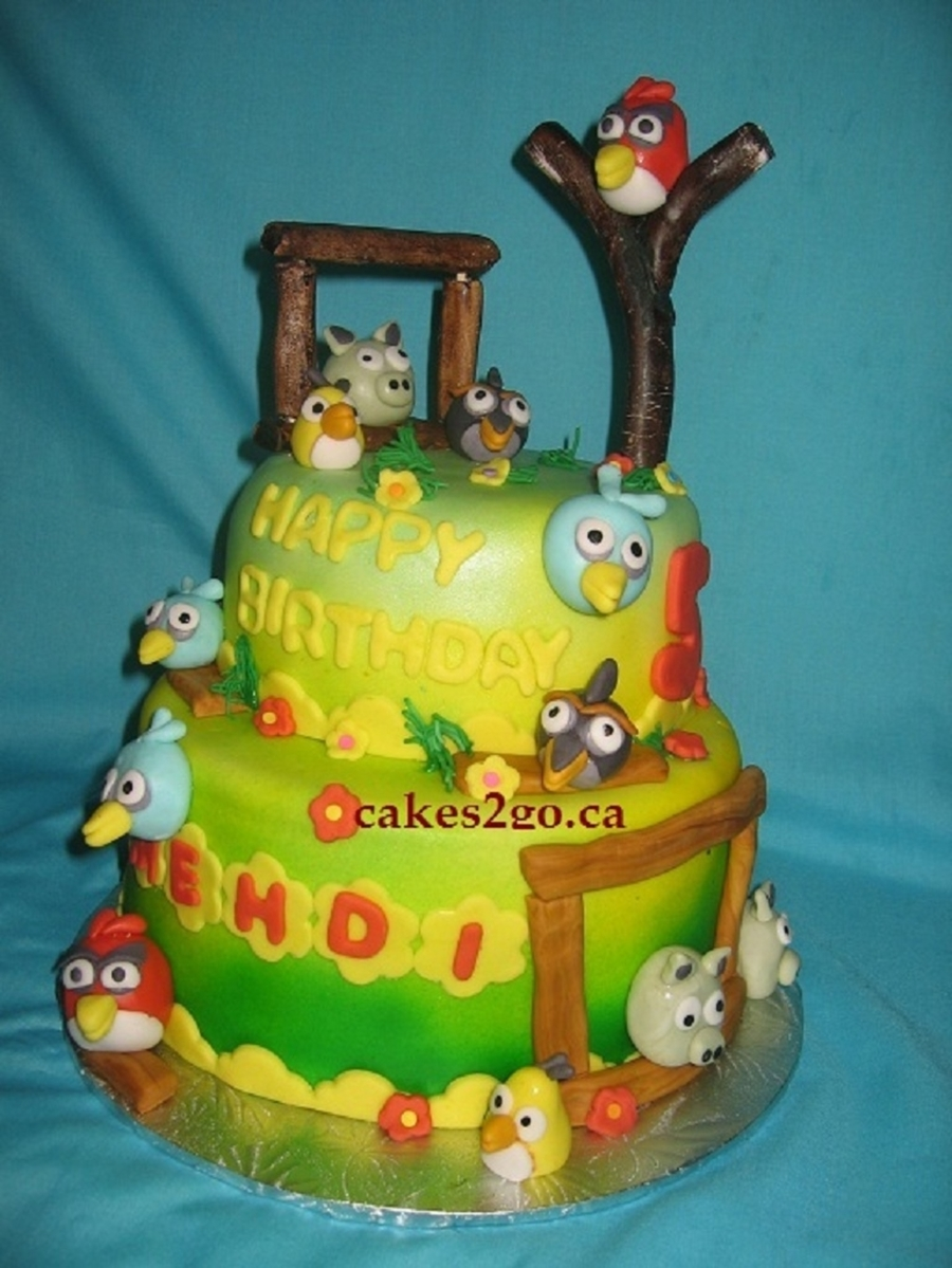 Angry Birds Cake Oakville Ontario By Cakes2Go.ca on Cake Central
