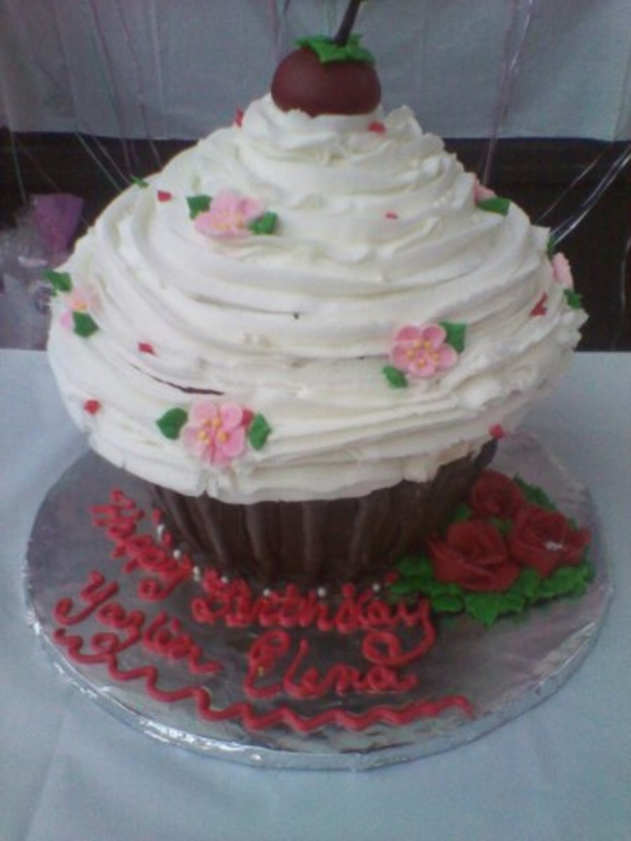 Big Cup Cake on Cake Central