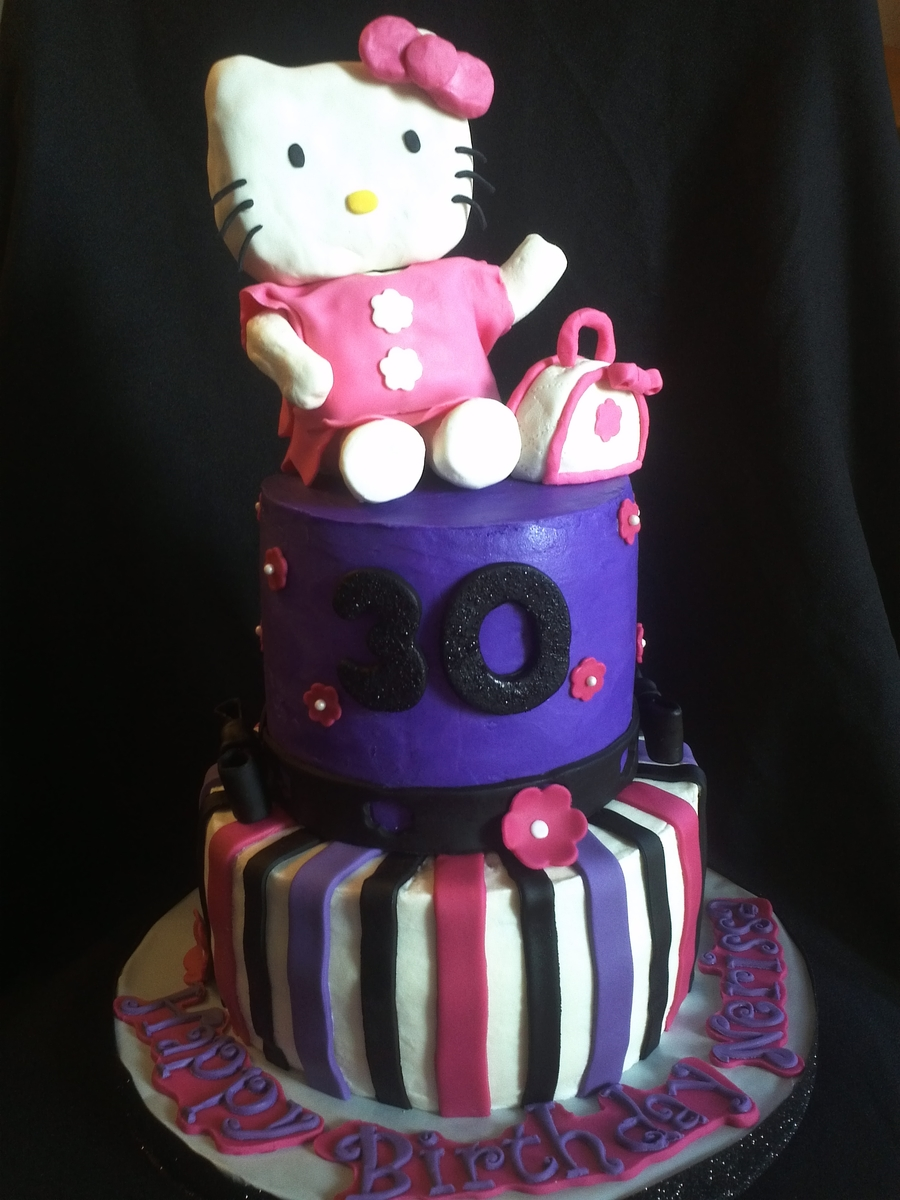 Hello Kitty 30Th Birthday Cake on Cake Central