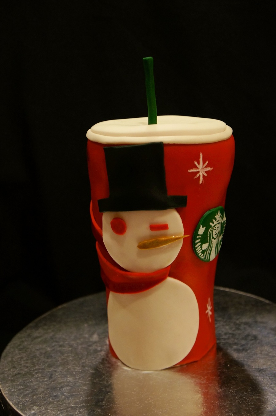 Starbucks Holiday Cup on Cake Central