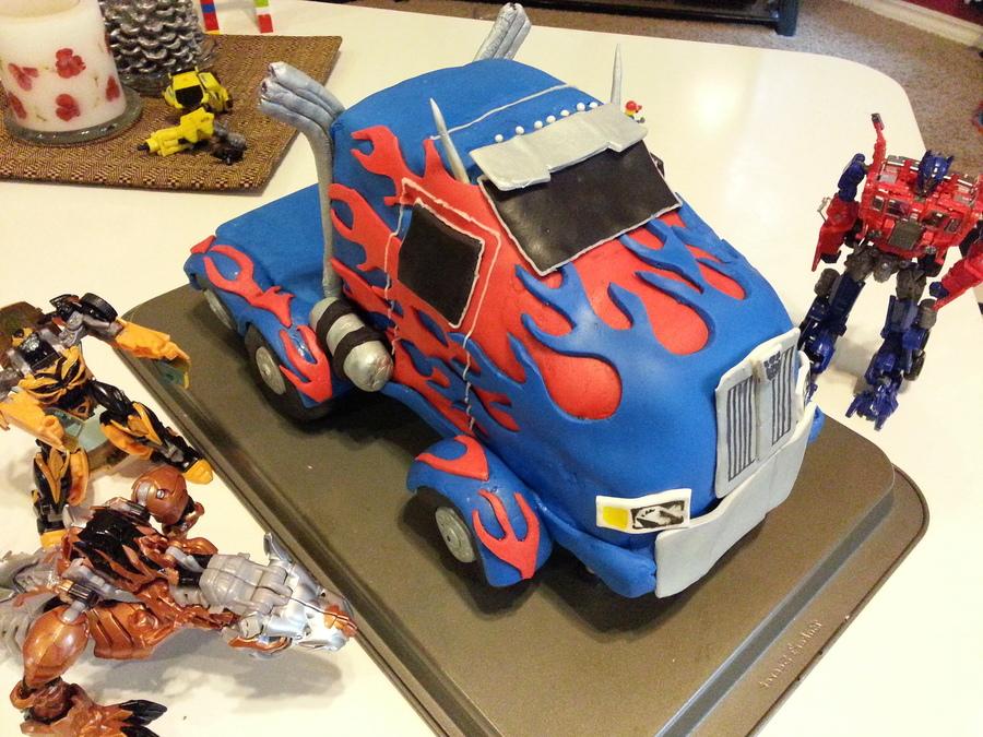Transformers 4 Age Of Extinction Optimus Prime Birthday Cake