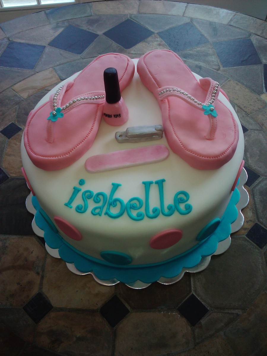 Flip Flop Pedicure Party Cake on Cake Central