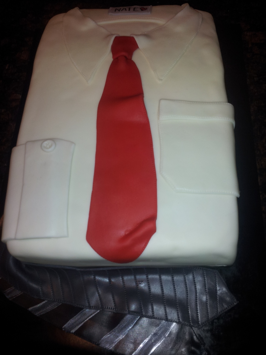 Man's Shirt And Tie on Cake Central