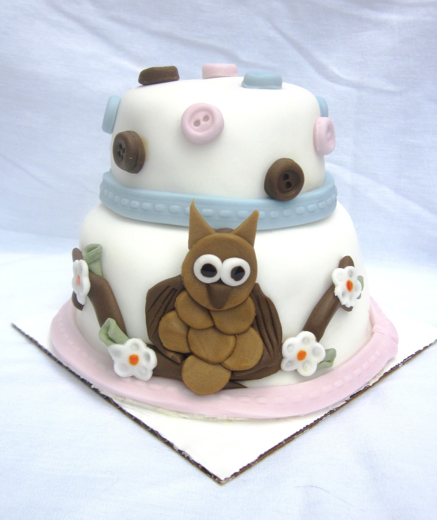 Miniature Owl Cake on Cake Central